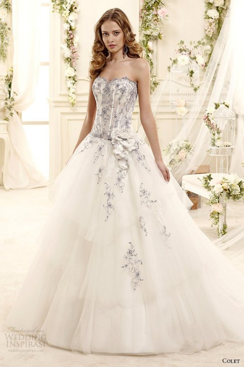 اجمل تصميمات الفساتين زفاف 2015