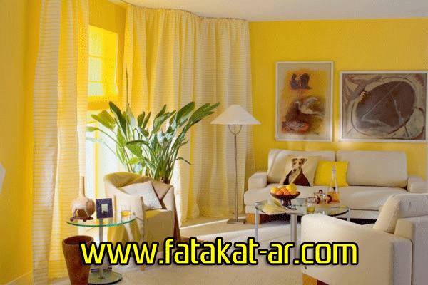 ديكورات باللون الاصفر