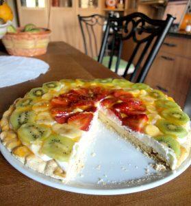 بيتزا الفواكه بالفراولة