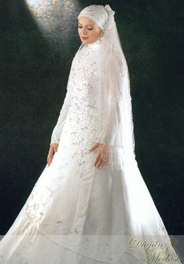 افخم فساتين زفاف للمحجبات موضة 2015