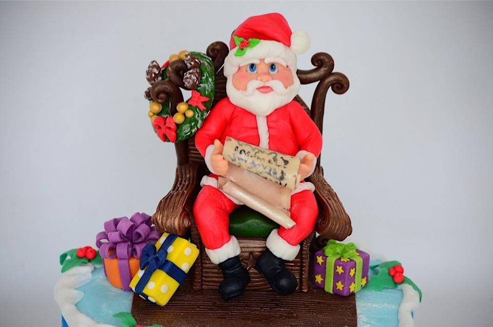 تورتة بابا نويل بالصور 2015 - تورتة راس السنة 2015