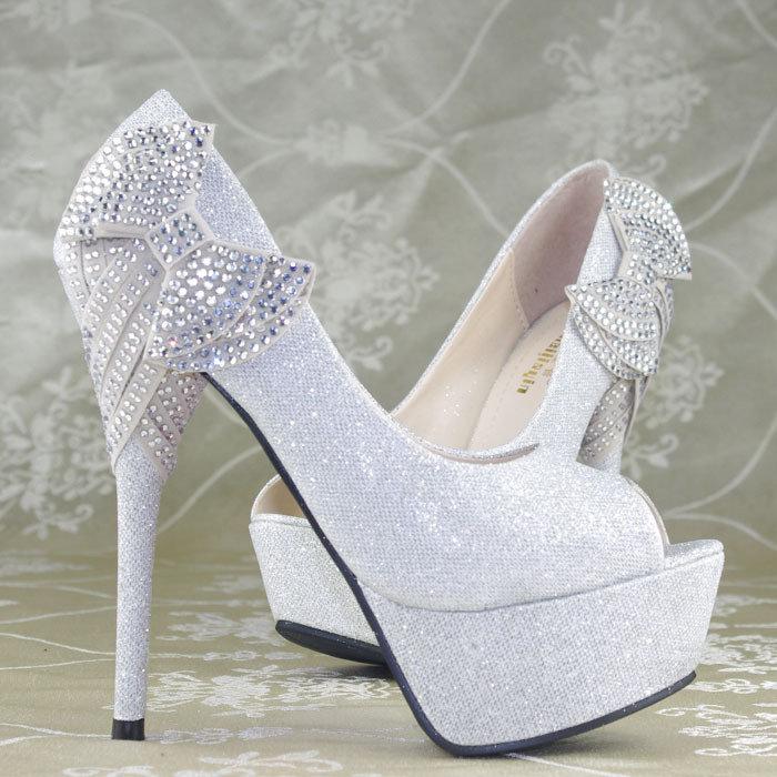 احذية زفاف العرائس بيضاء 2015
