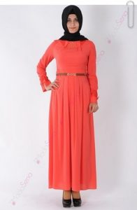 ملابس محجبات تركية باللون الاورنج 2015